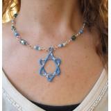 Star of David blue enamel