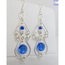 Mother of pearl blue earrings