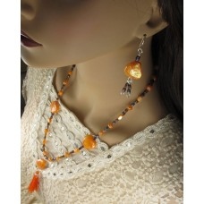 Mother of Pearl Tassel Necklace