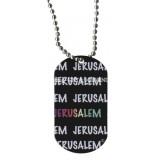 Dog Tag Necklace - Jerusalem