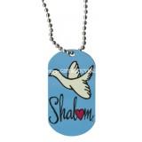 Dog Tag Necklace - Shalom Dove